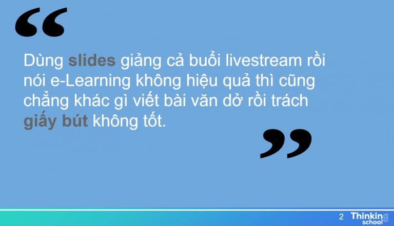 hiểu lầm về e-Learning
